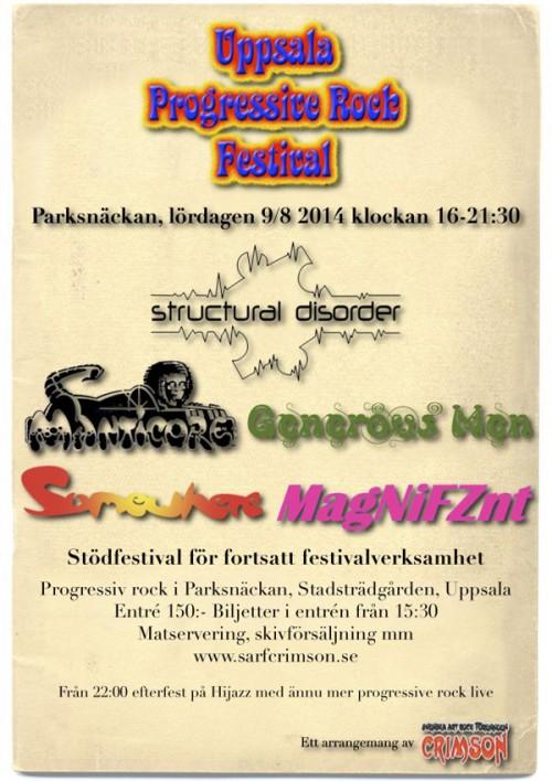 Uppsala Progressive Rock Festival 9/8-2014