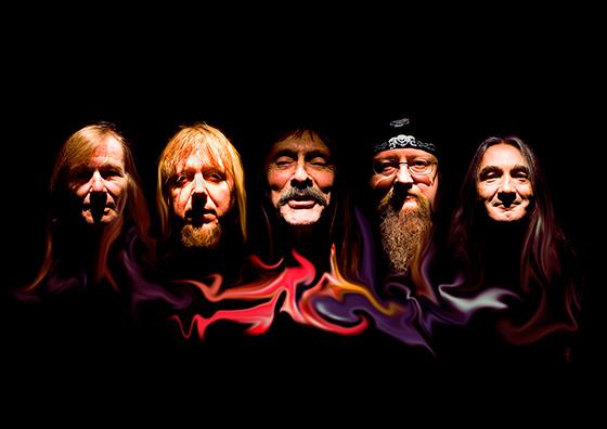Hawkwind klar för Getaway Rock Festival.