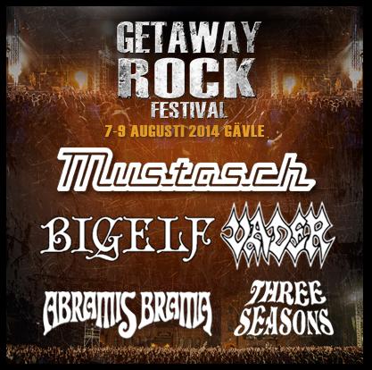 Three Seasons, Abramis Brama och Bigelf klara till Getaway Rock Festival.