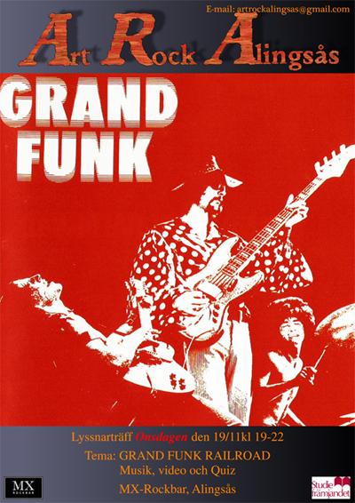 Art Rock Alingsås: Ny lyssnarträff på temat Grand Funk Railroad.