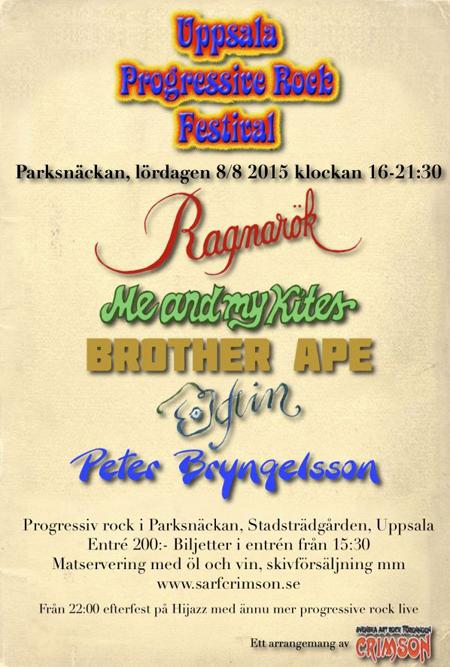 Uppsala Progressive Rock Festival 2015.
