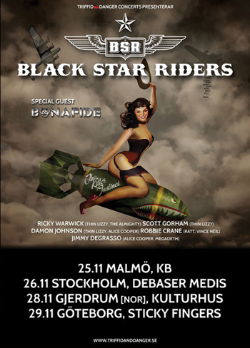 black star riders turne 2015