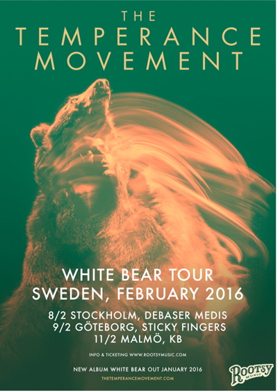 Nytt skivsläpp med The Temperance Movement.
