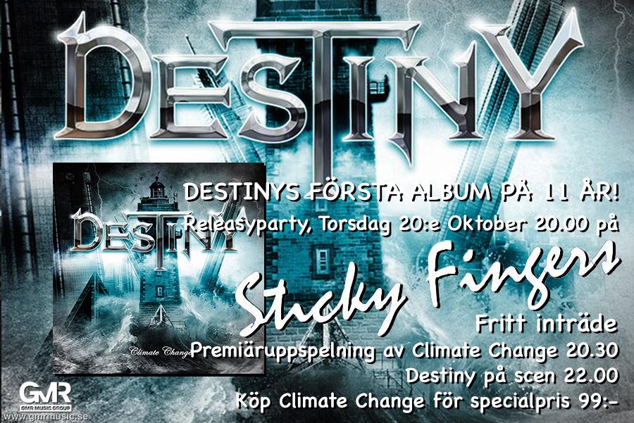 Destiny har releaseparty på Sticky Fingers för nya plattan Climate Change.