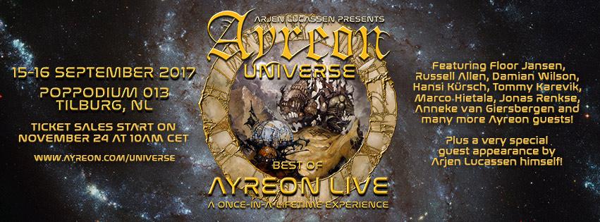 Ayreon spelar live för första gången någonsin!
