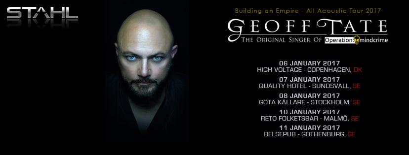 Geoff Tate – Building an Empire turnén till Skandinavien 2017.
