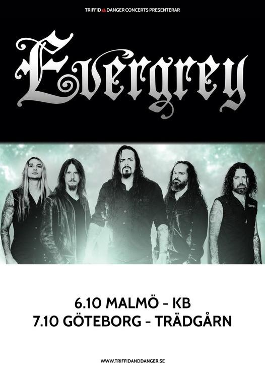 Evergrey spelar i Göteborg och Malmö i höst.