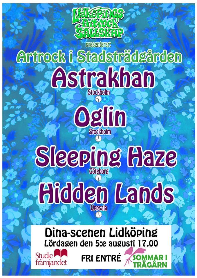 Artrock i Stadsträdgården – årgång 2017.