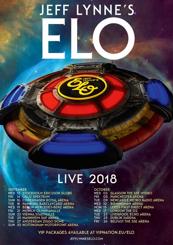Jeff Lynne's ELO – biljettsläpp den 17:e november till Ericsson Globe.