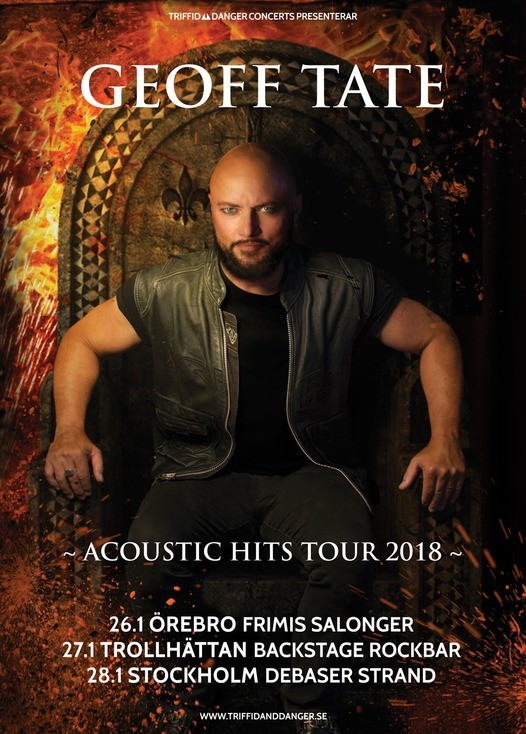 Geoff Tate – Acoustic Hits Tour kommer till Sverige.