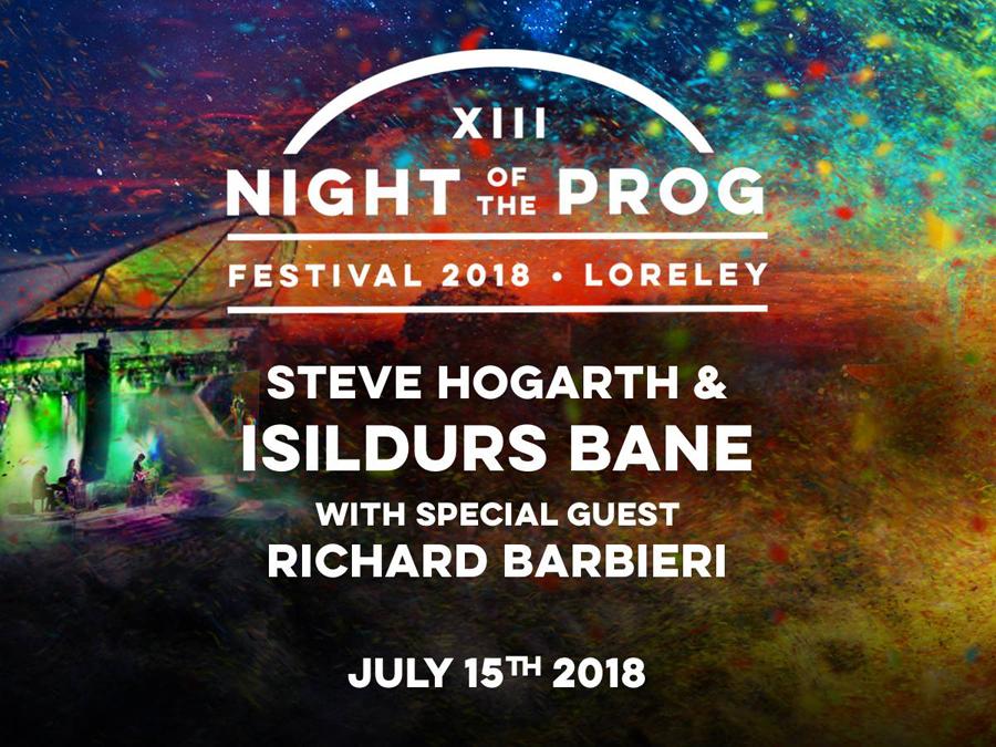 STEVE HOGARTH & ISILDURS BANE klar för Night Of The Prog Festival 2018.