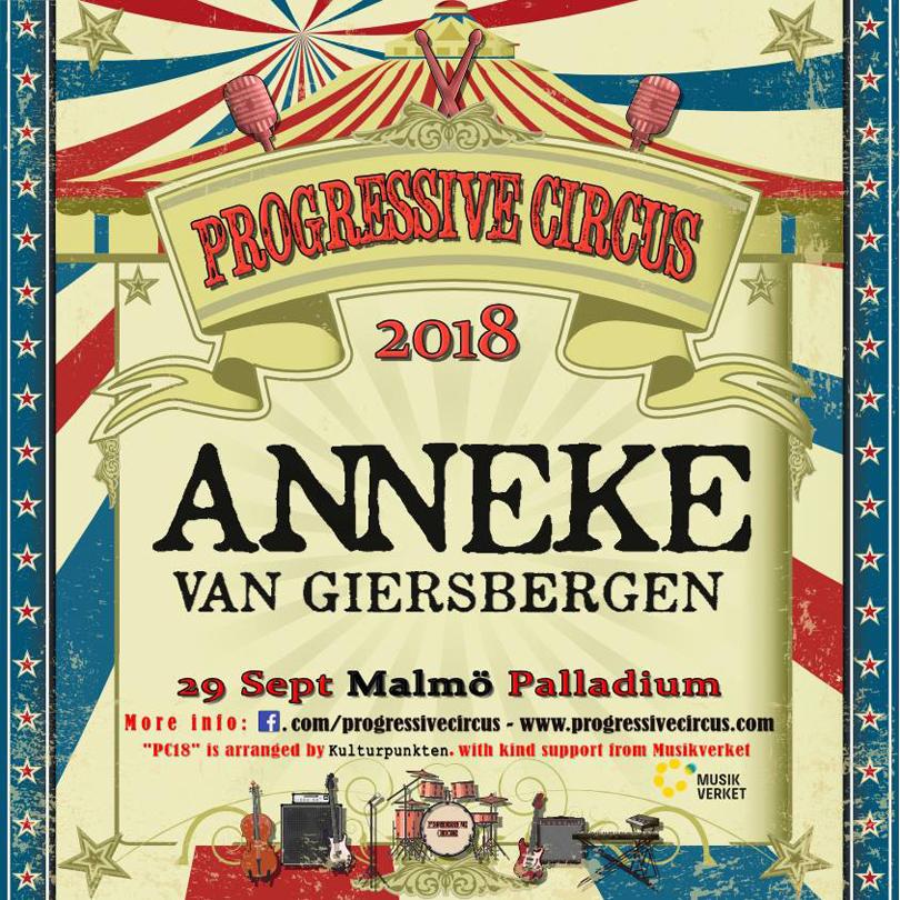 Anneke Van Giersbergen klar för Progressive Circus 2018.
