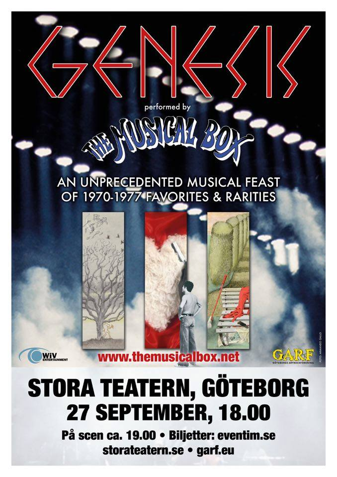 "The Musical Box ""premieres a Genesis extravaganza"" till Göteborg i september."