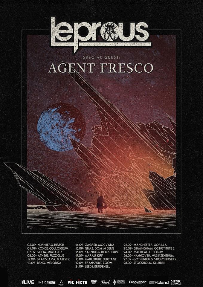Leprous och Agent Fresco gör två svenska stopp under höstens europaturne`.