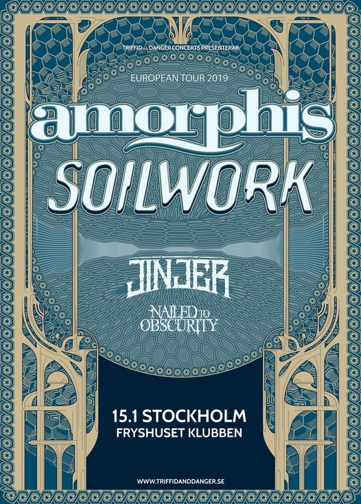 Amorphis och Soilwork spelar i Stockholm.