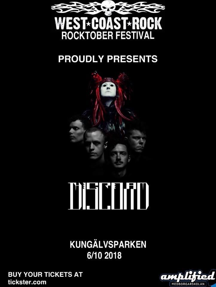 The Great Discord klar för West Coast Rock Festival 2018.