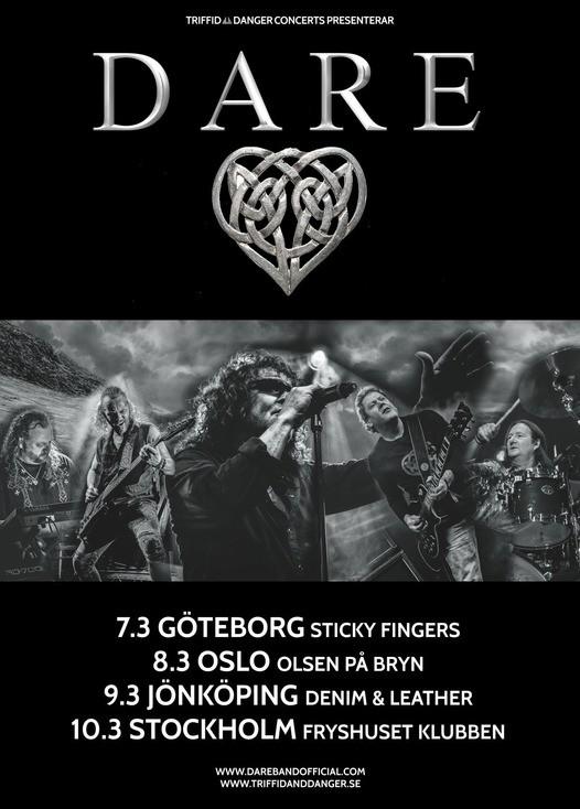 Dare till Sverige i mars.
