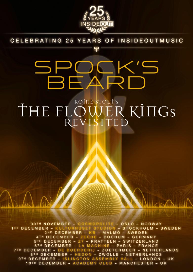 """InsideOutMusic's 25th """"anniversary on tour"""" med Spock's Beard & Roine Stolt's The Flower King's."""