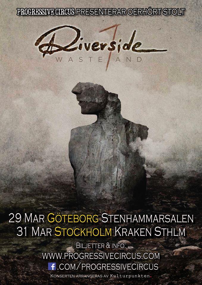 """Riverside kör två svenska gig på deras """"Wasteland tour 2019""""."""