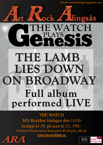 The Watch plays Genesis, ARA