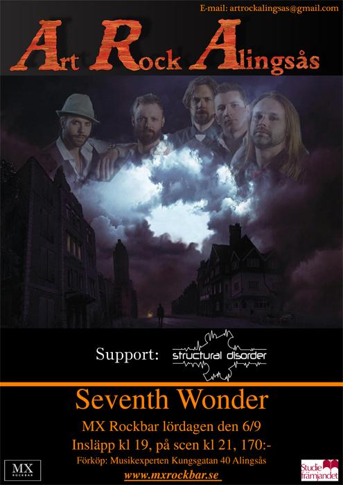 Seventh Wonder med support Structural Disorder gästar MX Rockbar i Alingsås.