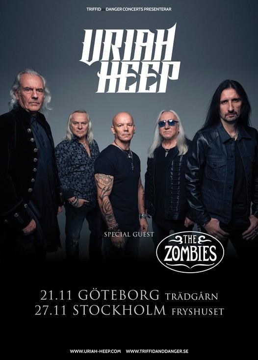 Uriah Heep och The Zombies till Sverige